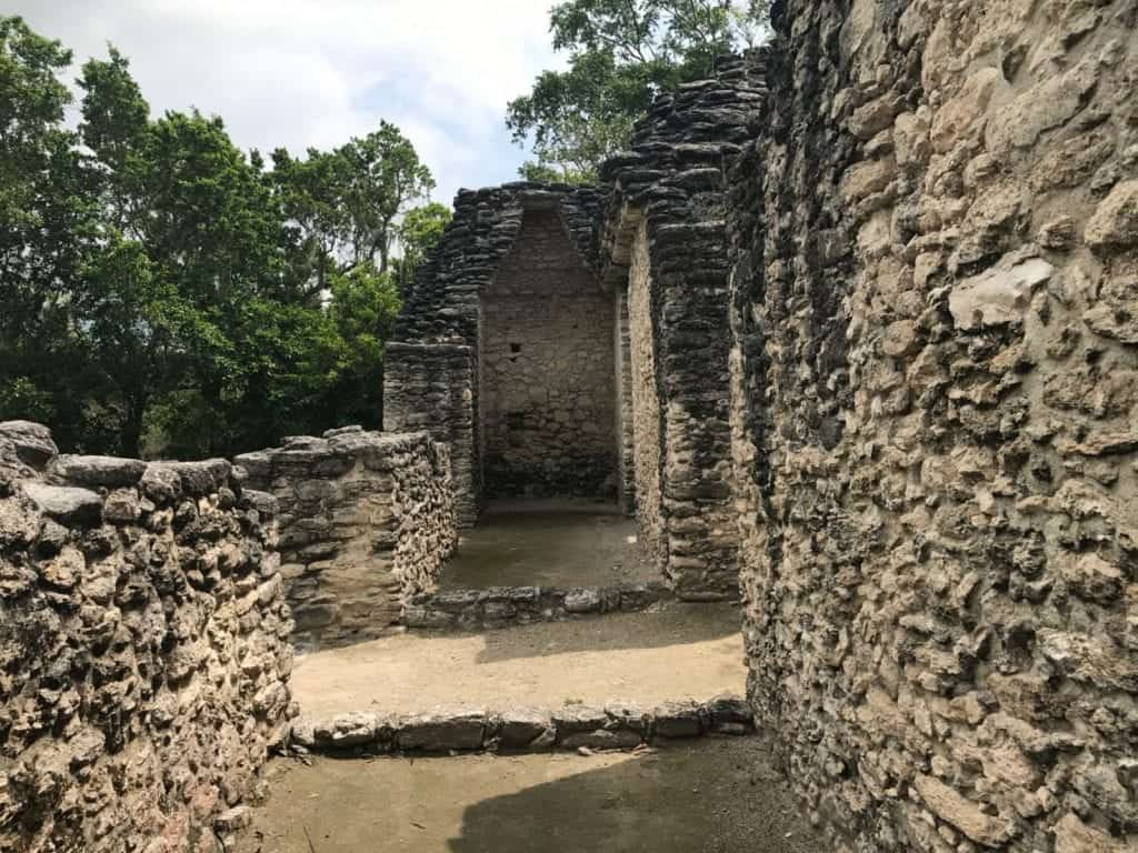 The stonework shows a mastery of the arch – something found at few Mayan sites. Photo by Bill Thompson.