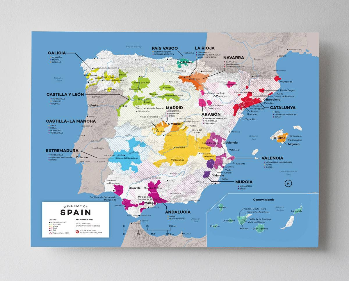 Wine map of Spain by Wine Folly
