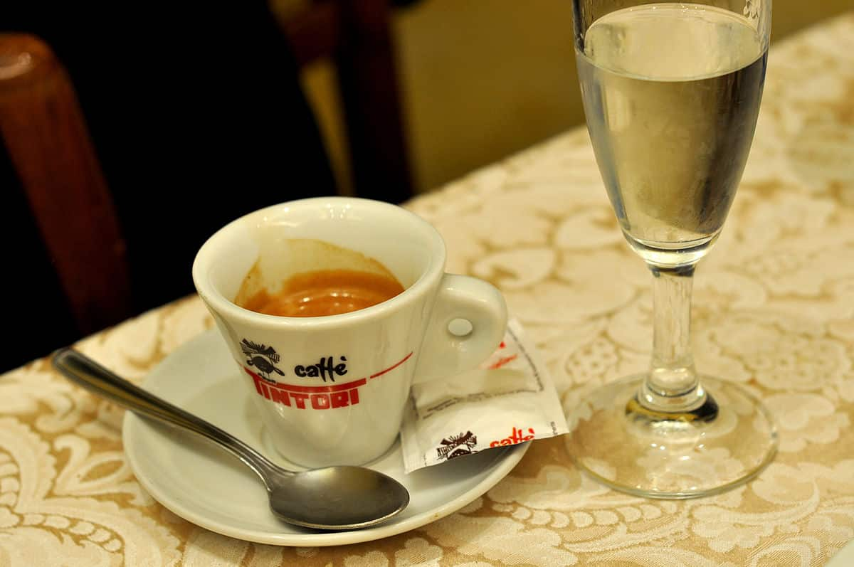 A picture of espresso and water by cyclonebill on flickr.